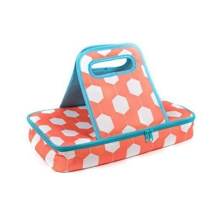 Orange & Turquoise Hexagon Casserole Carrier