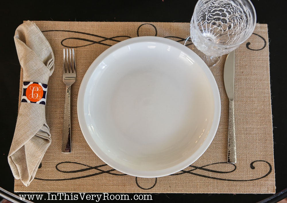*SOLD OUT* French Scroll Placemats - inthisveryroom