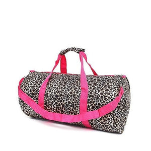 Leopard Duffle Bag for Girls - Personalized, Monogrammed