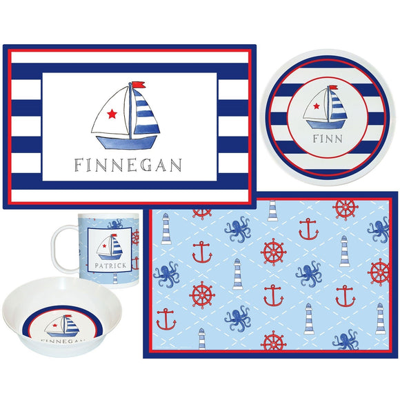 Sailboat Kids Dish Sets! Kids' Dish Set