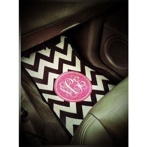 Monogrammed Car Mats - Personalized Front Seat Car Mats