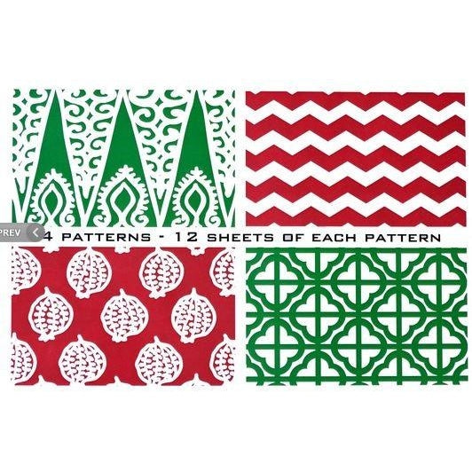 *SOLD OUT* Holiday Disposable Placemats - Box Set of 4 Patterns - inthisveryroom