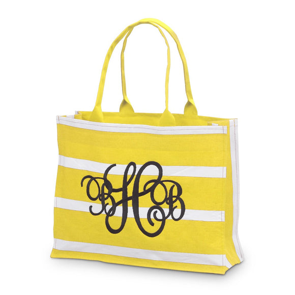*SOLD OUT* Yellow Stripe Canvas Tote - inthisveryroom