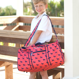 Monogrammed Dog Duffel Bag - Personalized