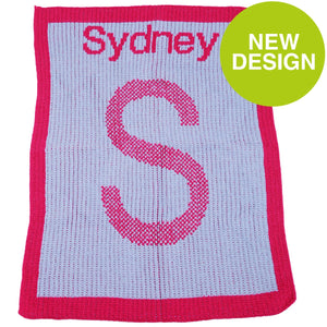 Personalized Name & Initail Blanket for Babies, Kids