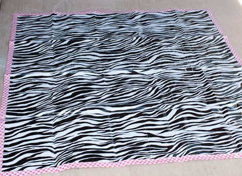 *CLOSE OUT - ZEBRA ONLY * Splat Mats with Gingham Borders - inthisveryroom