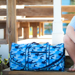 Blue Camo Duffle Bag