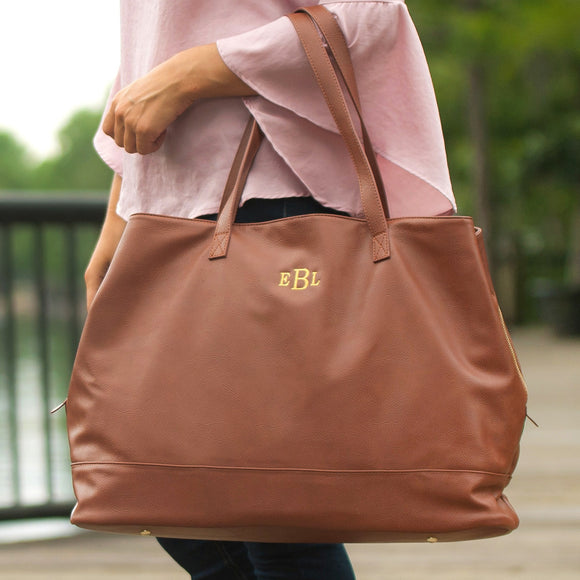 Brown Cambridge Travel Bag / Large Tote Bag - inthisveryroom