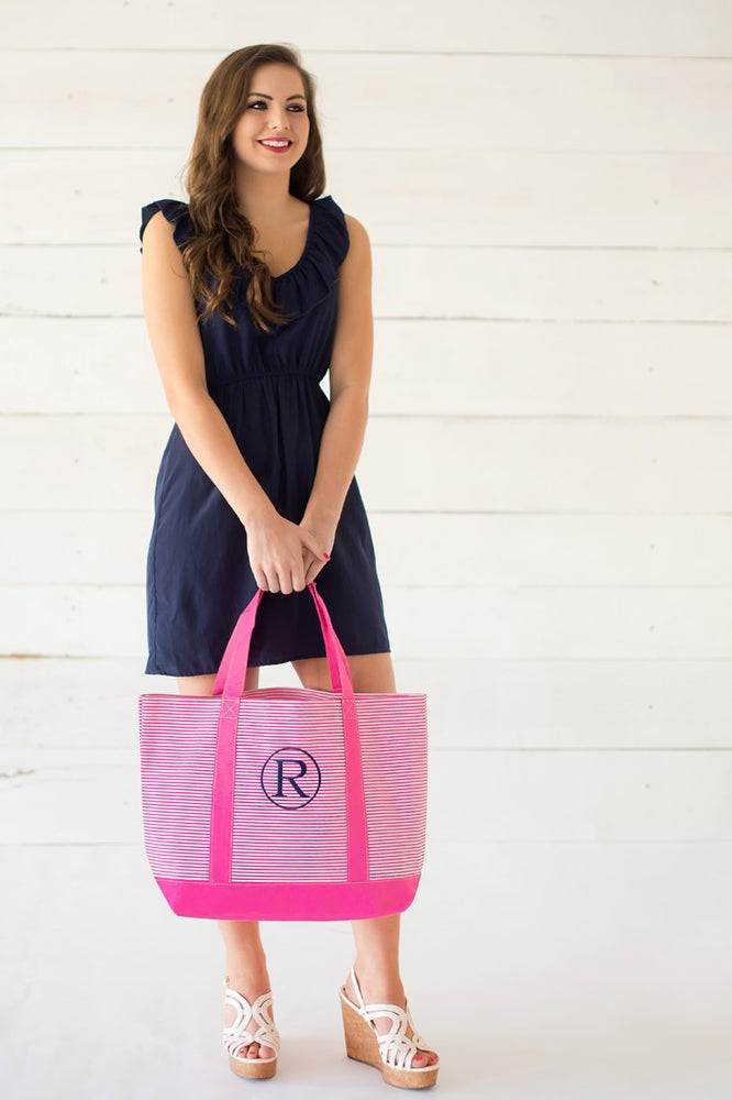 Pin Striped Totes - SEVERAL Colors!