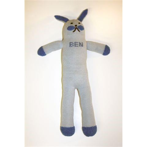 Personalized Bunny Doll  - Blue