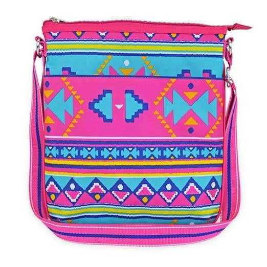 Monogrammed Aztec Purse - Fits iPad - Personalized Crossbody