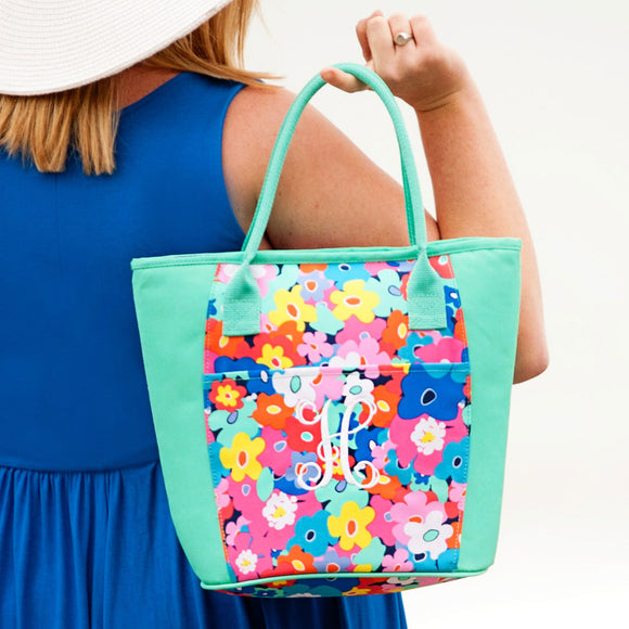 Personalized Poppy Insulated Cooler Tote Bag for Women