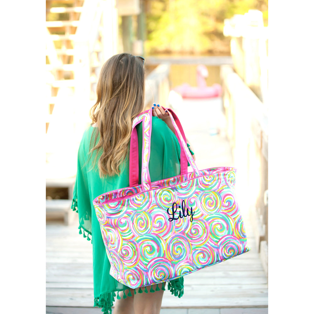 Beach Tote - Large Jumbo Personalized - Cute