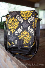 Damask Double Wine Bag