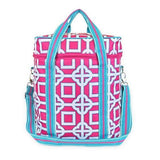 Monogrammed Pink Turquoise Cooler Bag - Insulated Drinks - Cute, Personalized