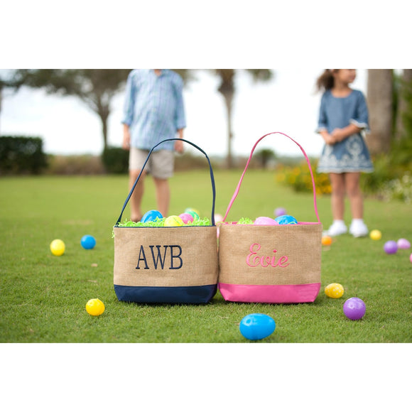 Burlap Easter Buckets - Boy & Girl Colors - inthisveryroom