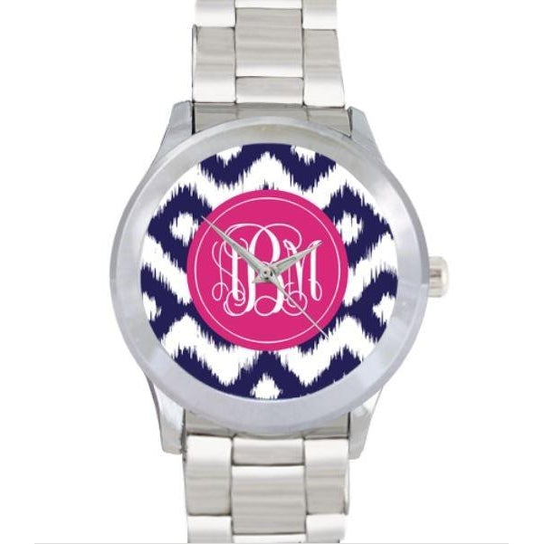 iKat Print Watch - Stainless Steel