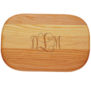 "Small Wood Board 10""x7"" - Rounded Rectangle"