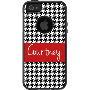 Personalized Houndstooth Otterbox Case