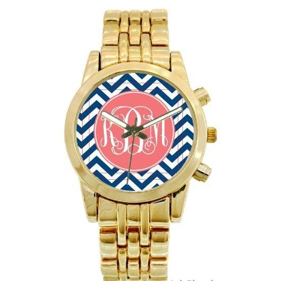 Chevron Watch - Gold Plated