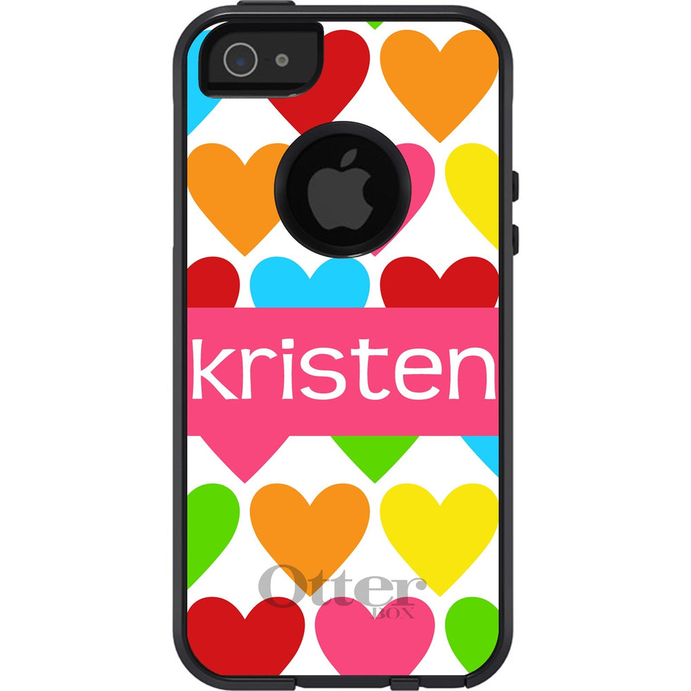 Personalized Hearts Otterbox Case for iPhones, Galaxy