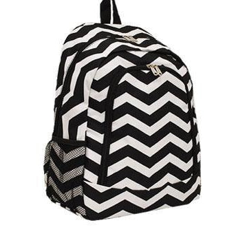 Black  & White Chevron School Backpack