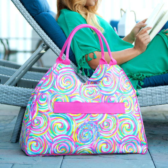 Personalized Cute Beach Bag - Sorbet, Monogrammed