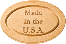 "Oval Cutting Board: 12"", 18"" or 24"""