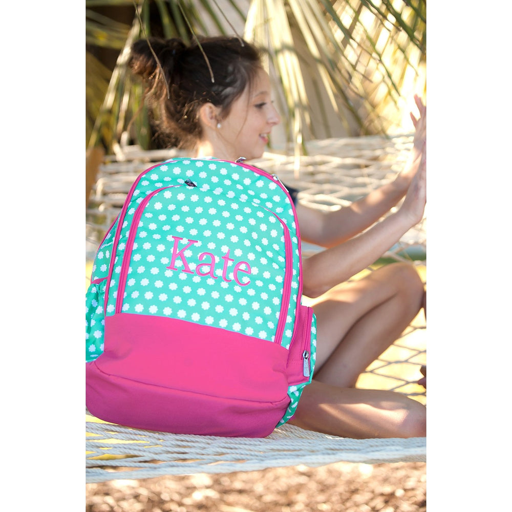 Hadley Bloom Backpack - Pink & White