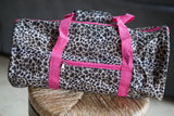 Leopard Duffel Bag - Medium Size
