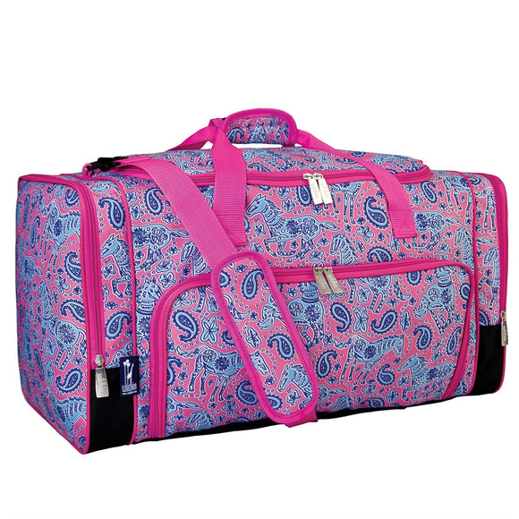 Monogrammed Ponies / Horses Weekender Duffel Bag for Girls