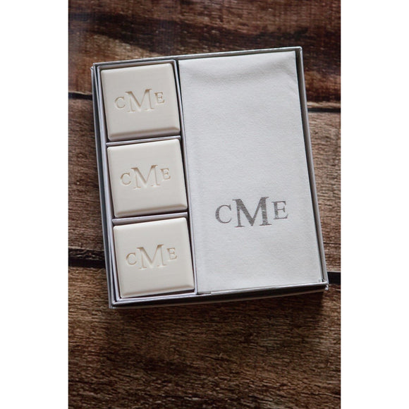 Personalized Soap & Hand Towel Set