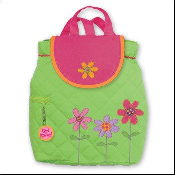 Stephen Joseph Green With Flowers Backpack