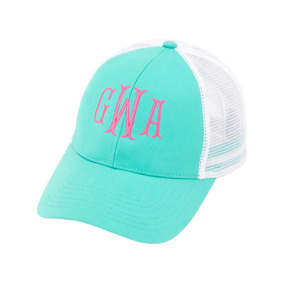 Monogrammed Trucker Hats for Women / Teens