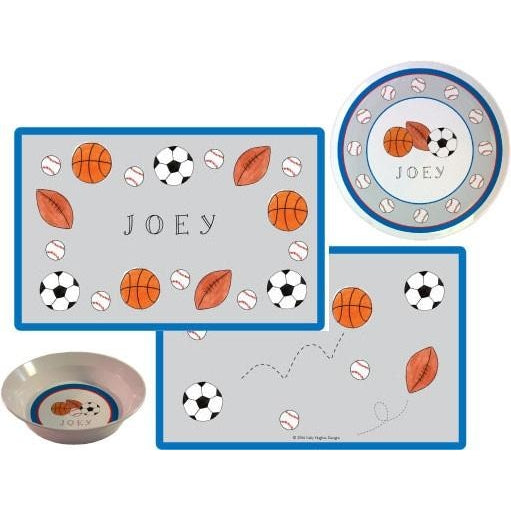 Sports Fan Kids' Dish Set
