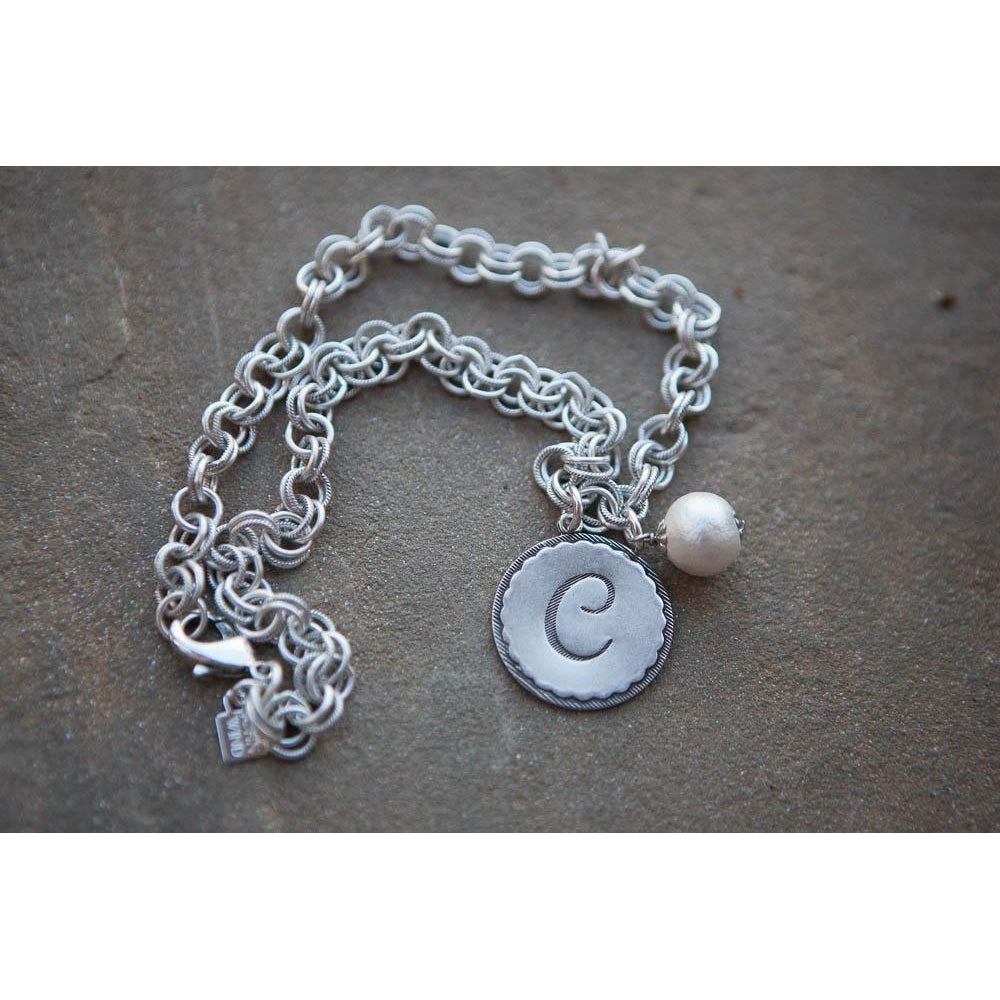 *ALMOST GONE* John Wind Silver Universal Chain Necklace with Initial