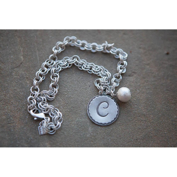 *ALMOST GONE* John Wind Silver Universal Chain Necklace with Initial - inthisveryroom