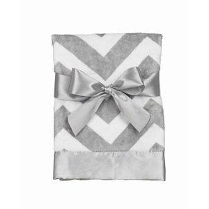 Personalized Grey Chevron Baby Blanket