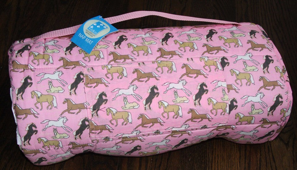 *SOLD OUT* Pink Horses Nap Mat by Wildkin - inthisveryroom