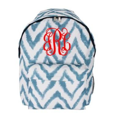 *SOLD OUT* Fun Chevron School Backpack - Blue