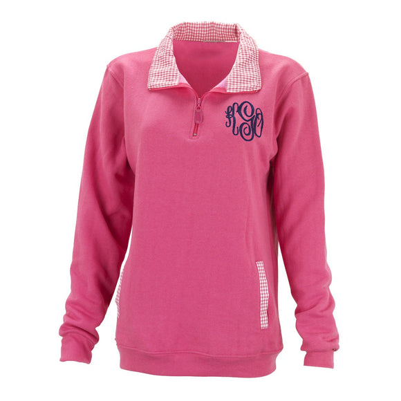 Monogrammed Sweatshirt Pullover for Women & Teens - pink
