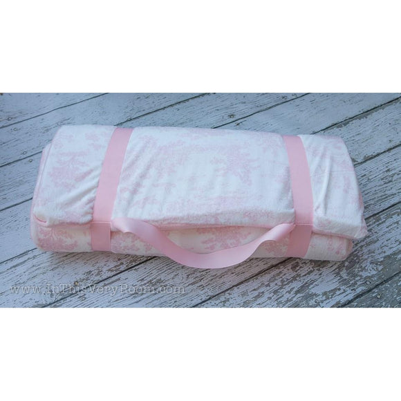 Pink Toile Nap Mat by Swankie Blankie