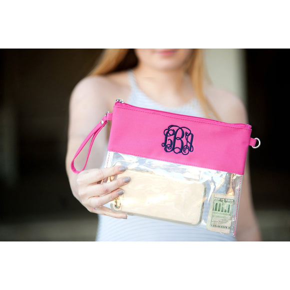 Personalized Clear Purses - Monogrammed Crossbody Purses