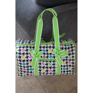 Personalized Houndsdooth Duffel Bag for Girls