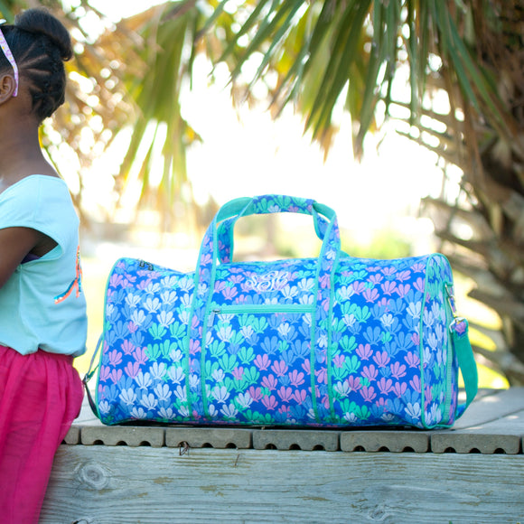 Mermaid Tail Monogrammed Duffel Bag