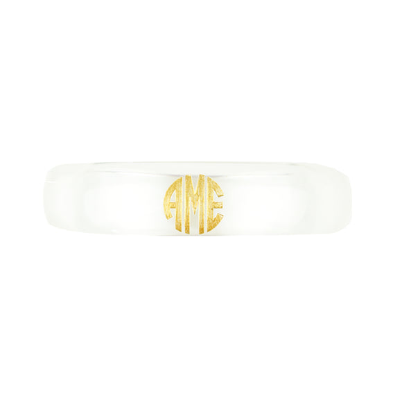 Personalized Bangle Bracelet Clear by Moon & Lola