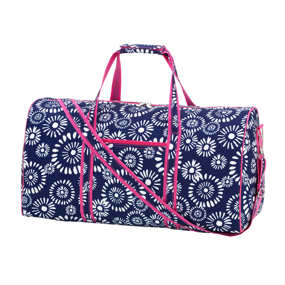 Riley Duffel Bag - Navy & Pink