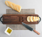 Walnut Bread Board - Personalized with Handles