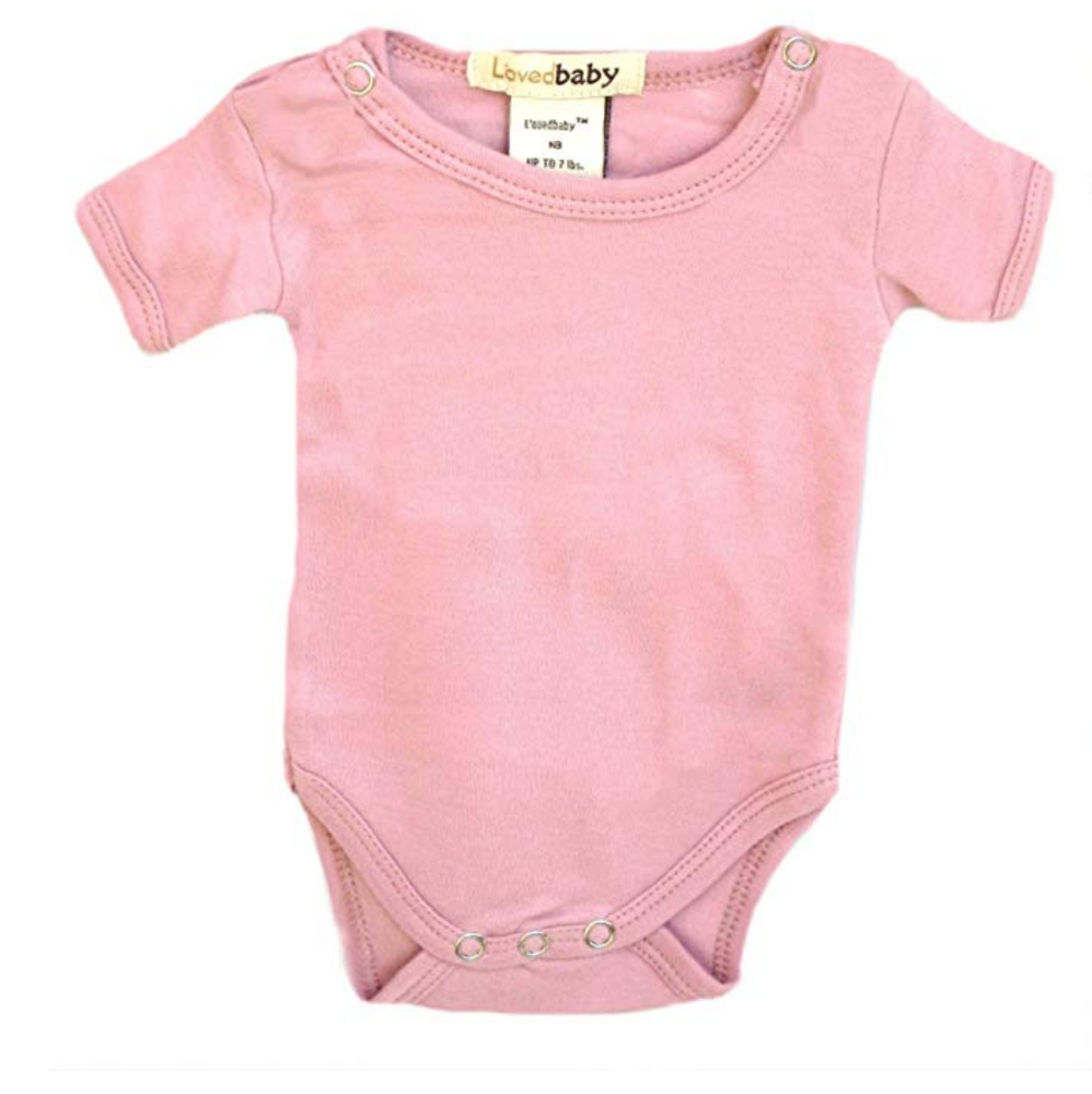 L'Oved Baby Short Sleeved Onesie - Brown, Green & Pink