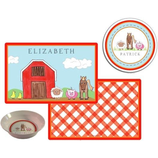 Down On The Farm Kids' Dish Set